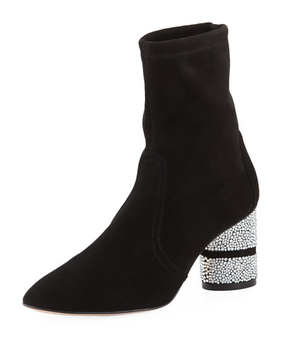 Flash Sock 75mm Booties w/ Crystal Heel