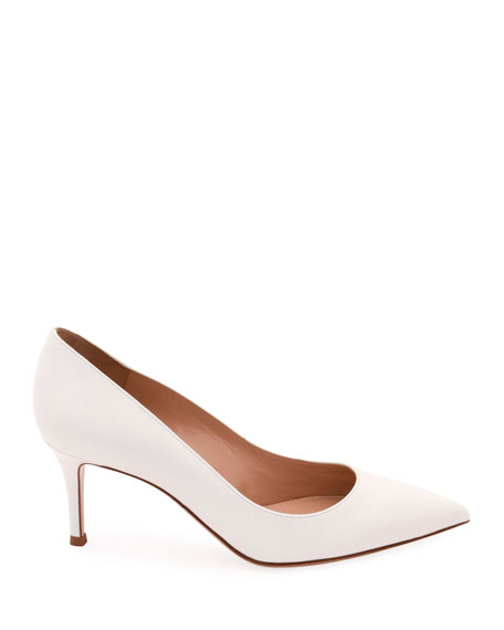 Napa Leather Point-Toe 70mm Pumps