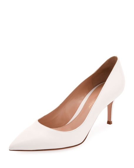 Gianvito Rossi Napa Leather Point-Toe 70mm Pumps