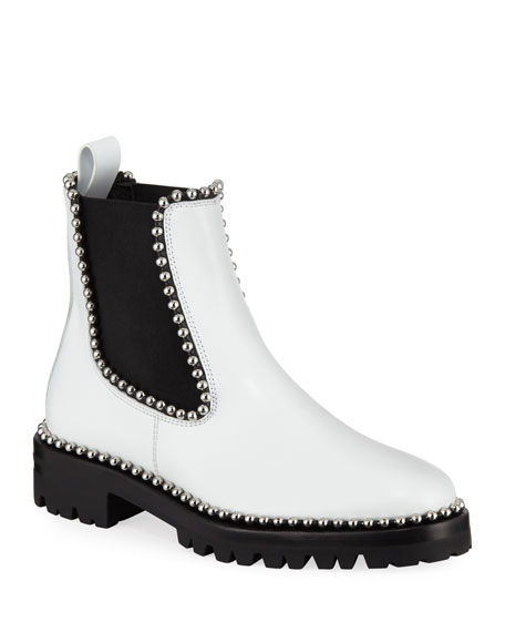 Alexander Wang Spencer Ball-Studded Leather Chelsea Boots af1b0db6f89f