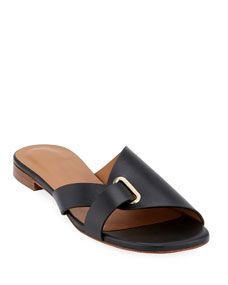Aston Flat Slide Sandals by Clergerie Paris