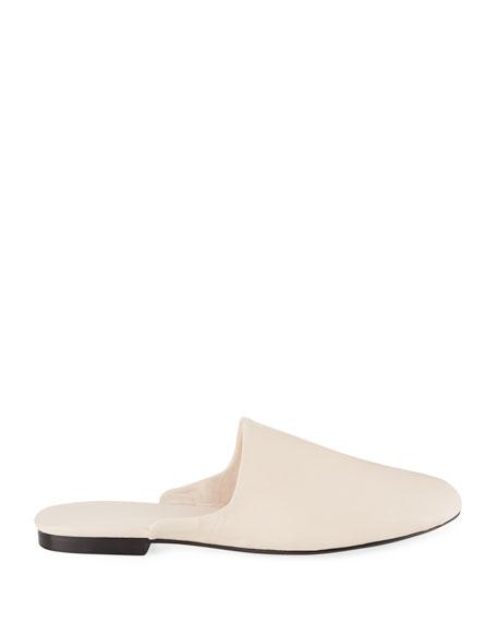 Granpa Leather Flat Slippers