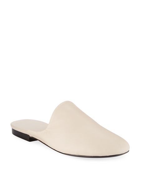 Image 1 of 1: Granpa Leather Flat Slippers