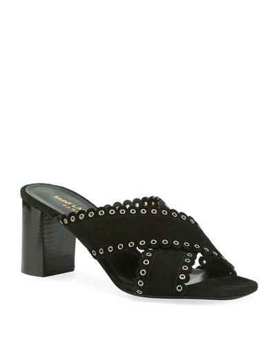2949e7fcac8f Saint Laurent Collection   Chelsea Boots   Bow Sandals at Neiman Marcus