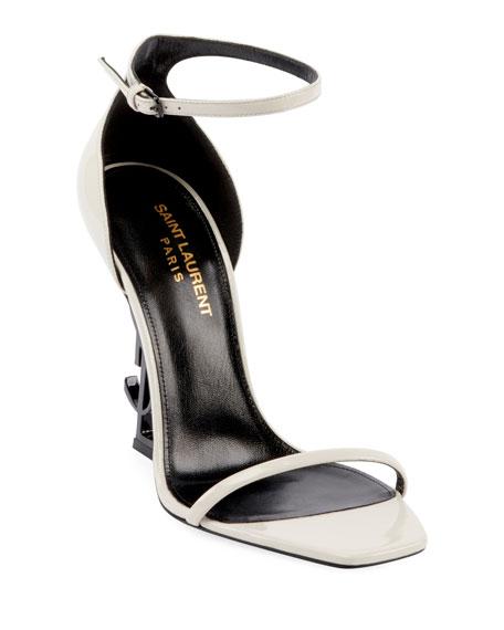 aedcd573fb40 Saint Laurent Opyum YSL Logo-Heel Sandals with Black Hardware