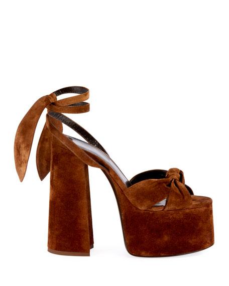 Paige Platform Suede Sandals