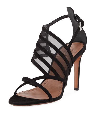 Banded Suede Sandals