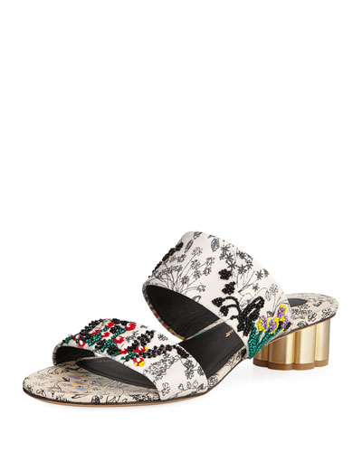 Belluno Two-Band Printed Slide Sandals