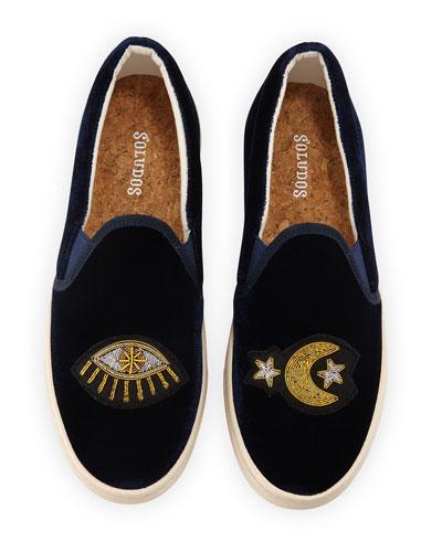 Celestial Velvet Slip-On Sneakers