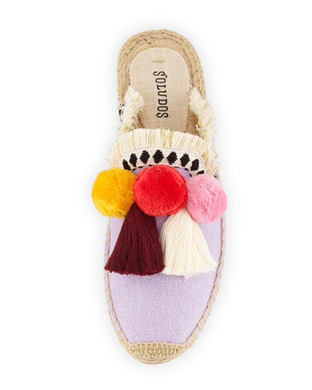 Coco Pompom Flat Mules