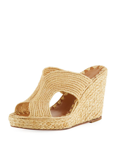 Lina Cutout Slide Wedge Sandals