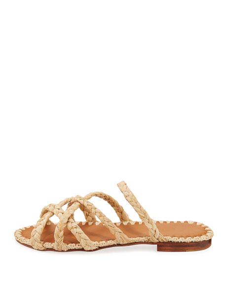 c02e6d8a607e Carrie Forbes Noura Braided Raffia Slide Sandals