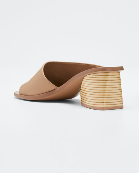Izar Suede Low-Heel Architectural Slide Sandals