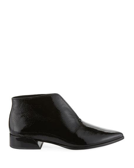Jasey Split Patent Leather Booties