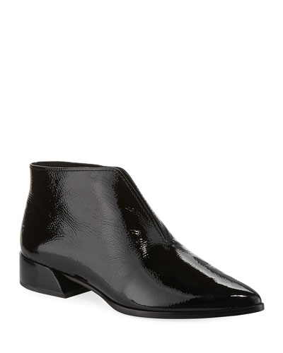 Jasey Split Patent Leather Booties