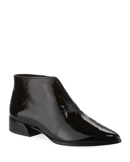 Mercedes Castillo JASEY SPLIT PATENT LEATHER BOOTIES
