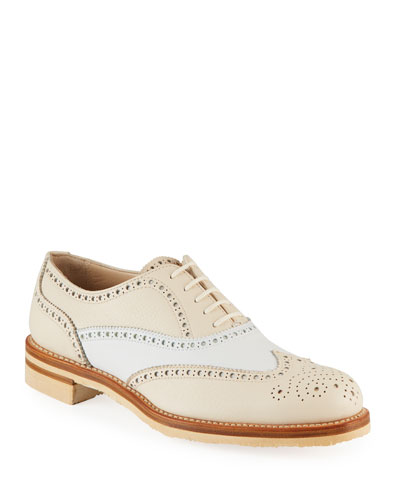 Two-Tone Wing-Tip Oxfords