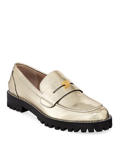 97f5750de36 Promotion Penley Metallic Lugged Loafers Quick Look. Stuart Weitzman