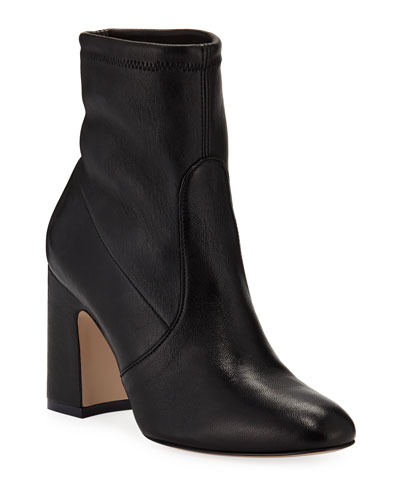 Niki Stretch-Leather Booties