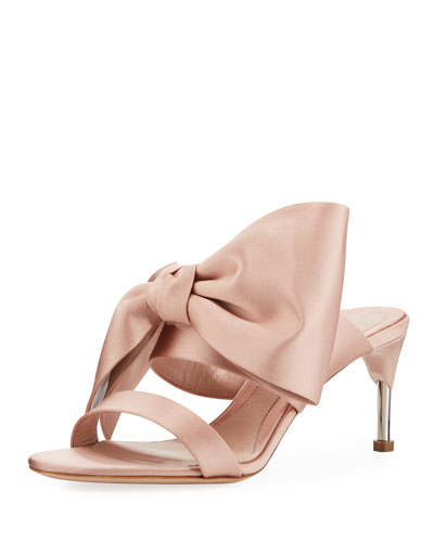 Satin Bow Sandals