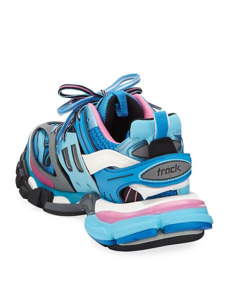 Track Colorblock Mixed Sneakers, Bleu Roi