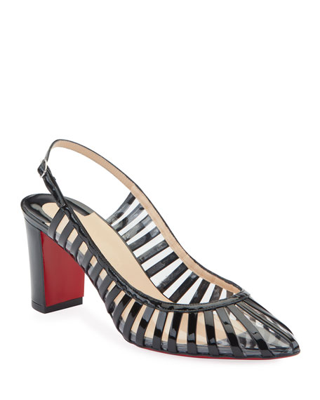 90e8946ec995 Christian Louboutin Jackie Caged Red Sole Pumps