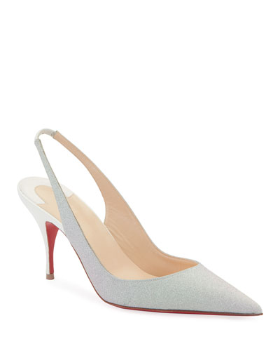 525859fccc7e Clare Glitter Red Sole Slingback Pumps Quick Look. Christian Louboutin