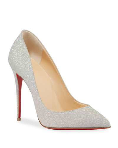 Pigalle Follies Glitter Sunset Red Sole Pumps