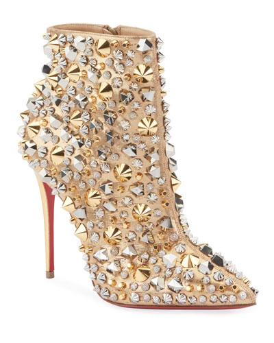 So Full Kate Embellished Red Sole Booties