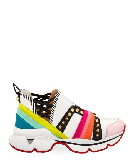 huge selection of 80bb4 35833 123 Run Rainbow Red Sole Sneakers