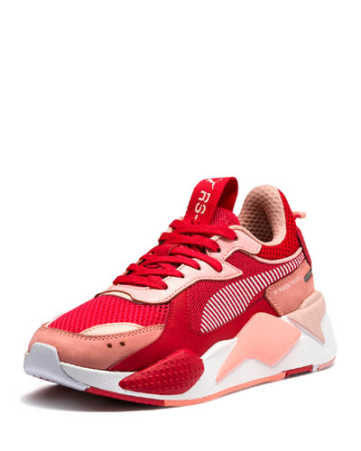 RS-X Colorblock Sneakers  Red