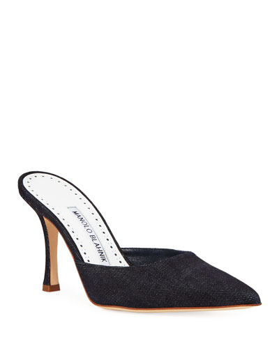 Arriga 90mm Embroidered Mules