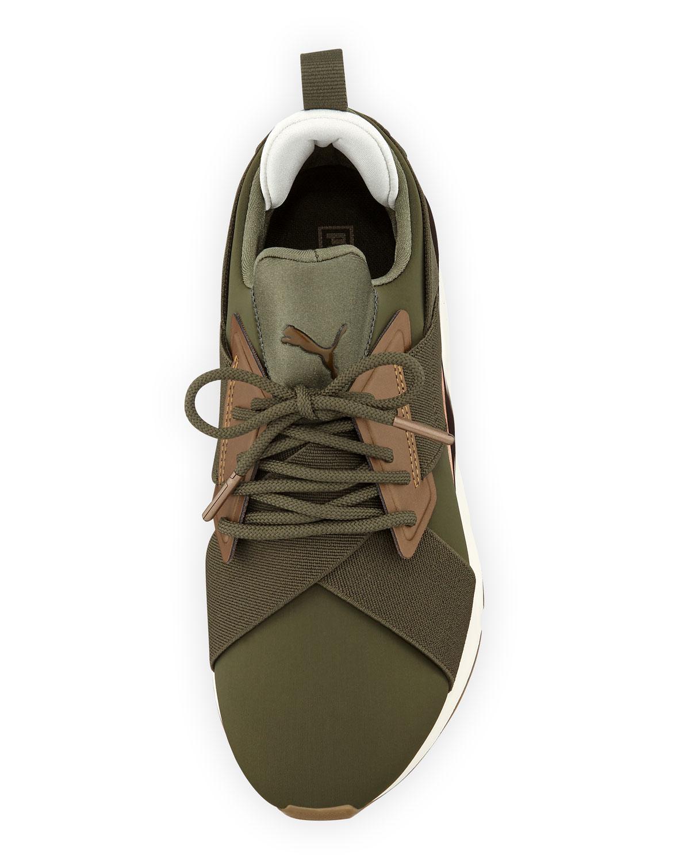 Puma Muse Metal Olive Sneaker
