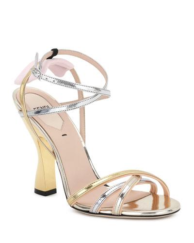 Colibri Mixed Metallic Sandals