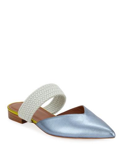 Maisie Luwolt Flat Metallic Napa Mules