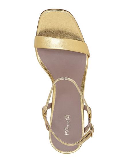 Frankie Metallic Slingback Sandals