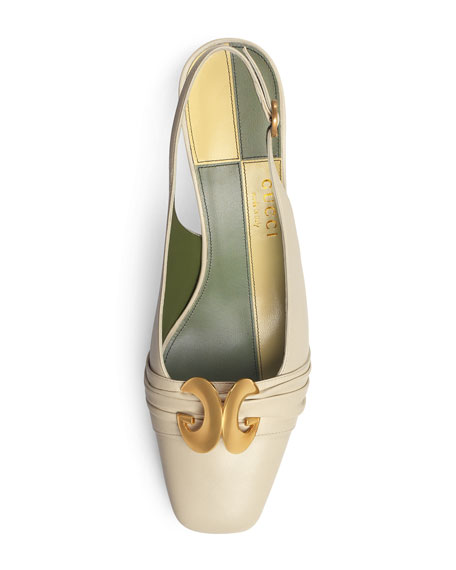 Usagi 55mm Leather Slingback Pumps