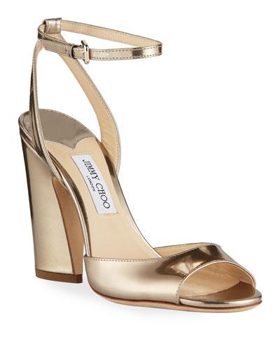 Miranda Metallic Leather Sandals