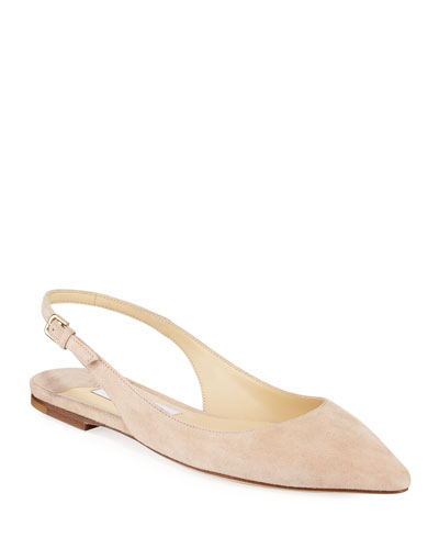 Erin Slingback Suede Ballet Flats