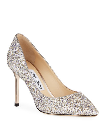 Romy Glitter Pointed Pumps