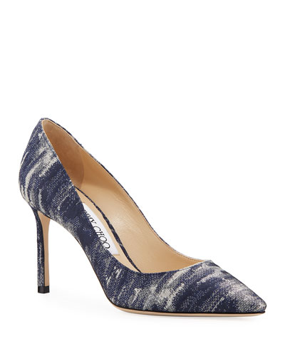 Romy Metallic Fabric Pumps