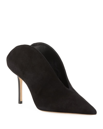 Loris Suede Stiletto Mules