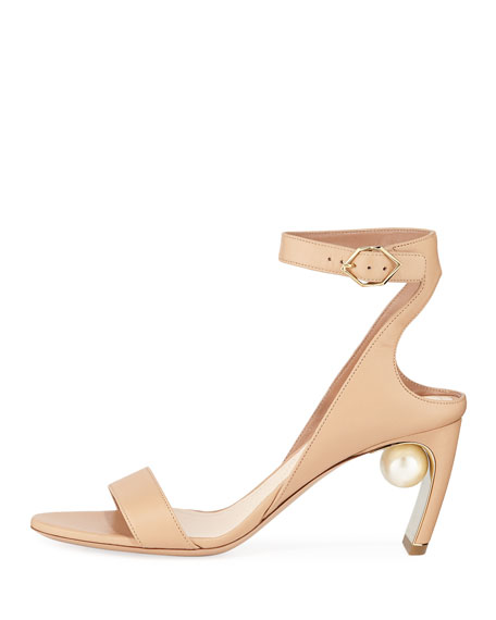 Lola Pearl Leather Sandals