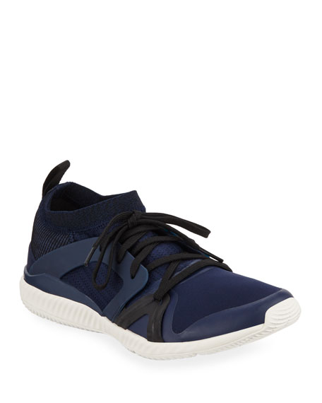 new product eb1bc d7a39 adidas by Stella McCartney Crazy Train Pro Lace-Up Sneakers, Navy