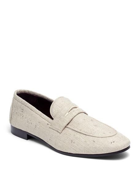 Splash Platinum Tweed Loafers