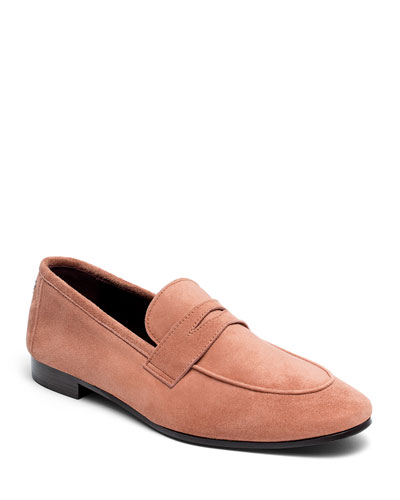 Poudre Suede Penny Loafers