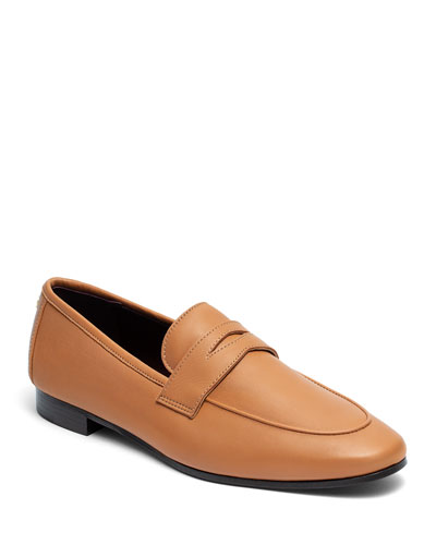Acajou Leather Penny Loafers