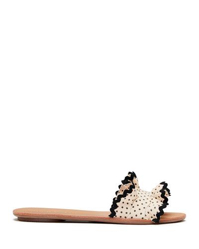 Birdie Ruffle Slide Sandals