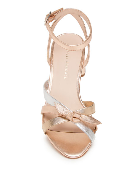 Anny Delicate Strappy Metallic Leather Sandals