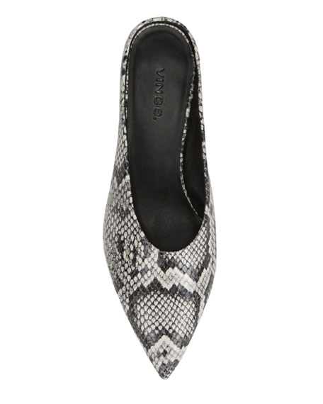 Ralston Snake-Print Leather Mules